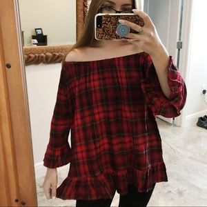 For the Republic Plaid Tunic Top